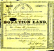 1836 Land Donation Certificate